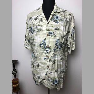 Tommy Bahama %100 Rayon Palm & Floral Hawaii aloha